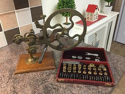 Antique Watchmakers Rounding Up Topping Tool Lathe & A set of L. CARPANO CUTTERS
