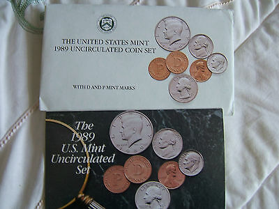 1989 'p' & 'd'   United States Of America.. Double Year Set Of Coins