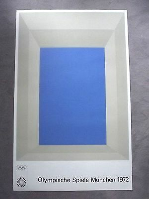 JOSEF ALBERS -1972 - Olympiaplakat Farboffsetlithographie - DRUCKSIGNIERT