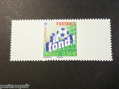 FRANCE 2010 timbre REPONSE PAYEE n° 1, FOOTBALL, neuf**, MNH STAMP