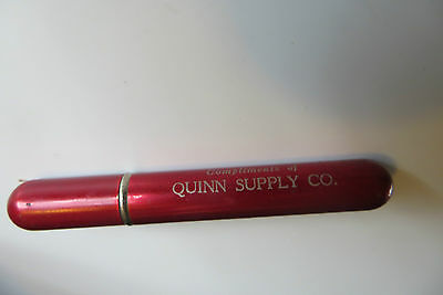 original old tube style cylinder advertising lighter,Quinn supply co