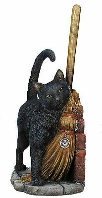 Lisa Parker Magical Black Cat Brush With Magick Statue