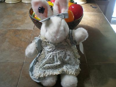 "Vintage 1985 Applause Wallace Berrie Stuffed Bunny Rabbit 18"" tall EASTER  NOS"
