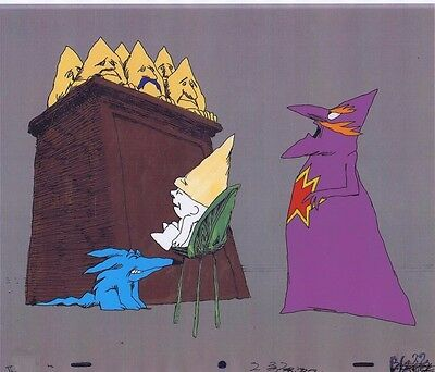 THE POINT Original RARE Production Animation Cel OBLIO & Copy Bkgd #A13755