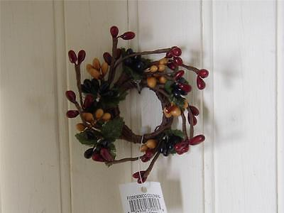 Colonial Mix ~  Taper Candle Ring ~ Pip Berry Garland ~  Taper Candle Ring