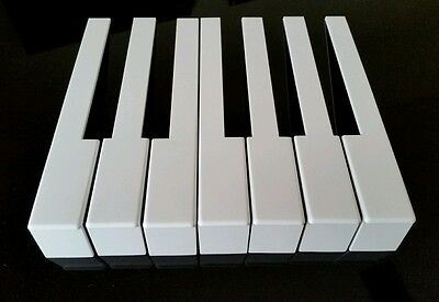 German Piano Keytops Full Set with Front for Piano Keytop Replacement White Keys