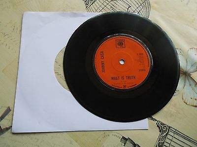 45rpm-Johnny Cash- What Is Truth-S4934-CBS-1970-1st press