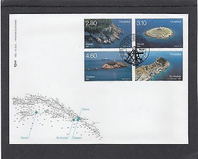 Croatia 2015 Lighthouses First Day Cover FDC