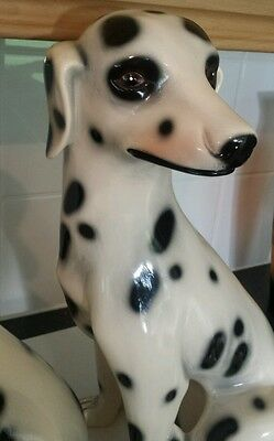 A LARGE  EARLY 20th CENTURY CERAMIC DALMATION DOG