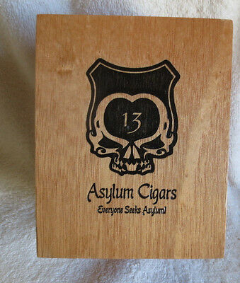 ASYLUM 13 CONNECTICUT 50 x 5 WOOD CIGAR BOX -  NICE!
