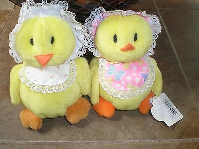 Lot of 2 Applause Vintage Chicks or Ducklings Very Cute New Old Stock