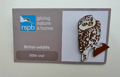 Rspb Pin Badge Little Owl  On Giving Nature A Home