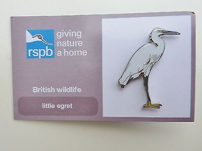 Rspb Pin Badge Little Egret  On Giving Nature A Home