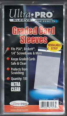 (100) Ultra Pro Graded Card Sleeves Resealable Lip