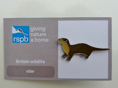 Rspb  Pin Badge Otter  On Giving Nature A Home & British Wildlife