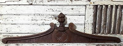 PEDIMENT DOUBLE SIDED ANTIQUE FRENCH CARVED WOOD IMPROVEMENT CHATEAU 19th 46 in