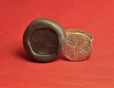 Bid Medieval Silver Seal Ring, Finger Ring, 14. Century