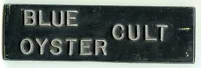 1970's Blue Oyster Cult Vintage Metal Mount Plate Band Box Tour Item 9x3