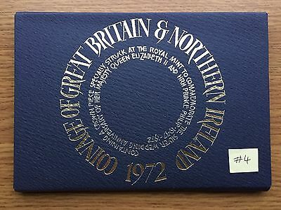 1972 Royal Mint Proof 7 Coin Collection - Original Sleeve UK/GB Year Set #4