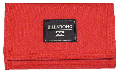 "Brand New + Tag Billabong ""atom"" Tri-Fold Boys Mens Kids Wallet Surf Flame Red"