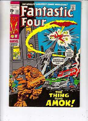 Fantastic Four 111 strict VF+ 8.5  High-Grade  100s of FF's up to grab onto now