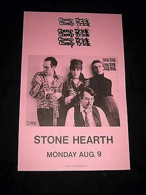 Vintage 1976 Cheap Trick Rock Band Poster-August 9-Madison, WI-Stone Hearth