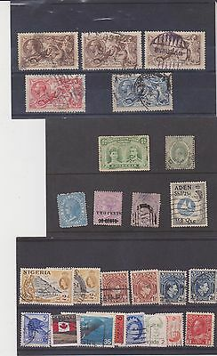 COLLECTION OF OLD USED STAMPS. (c)