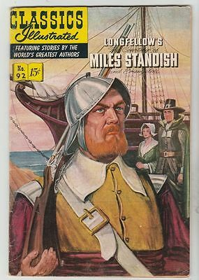 Classics Illustrated #92 Courtship Of Miles Standish strict FN/VF 7.0 High-Grade