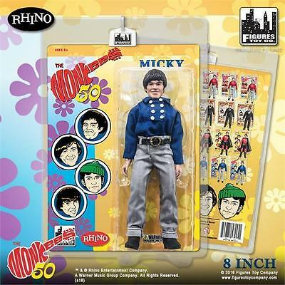 The Monkees 8 Inch Action Figures; Blue Band Outfit; Micky Dolenz ; Figures Toy