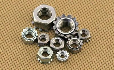 UNC #6 #8-32 Stainless Steel Keps K Lock Nut FREE SHIPPING