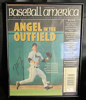 Angles Mike Trout Autographed JSA 2010 Baseball America, Angel in the outfield