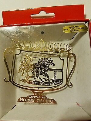 The Capital of  Horse Racing  Kentucky Brass Christmas Ornament