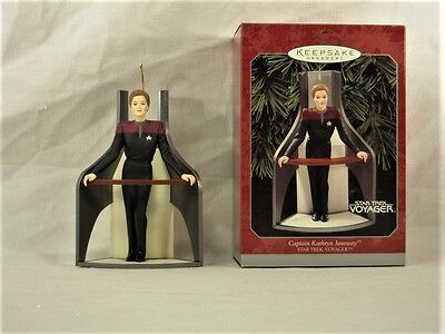 COLLECTIBLE Hallmark Keepsake Ornament - Captain Kathryn Janeway - 1998 - NIB