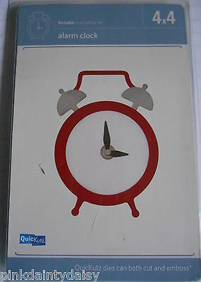 "ALARM CLOCK  4"" Cutting Die  REV-0300 ""RETIRED""  QUICKUTZ WRMK card scrapbook"
