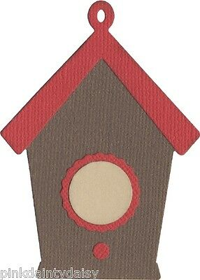 "BIRDHOUSE  4"" Cutting Die REV-0311  **RETIRED**  QUICKUTZ WRMK card scrapbook"