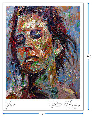 ORIGINAL SIGNED GICLEE PRINT OF█OIL█PAINTING█ART█MODERN█ABSTRACT█GIRL█PORTRAIT█a
