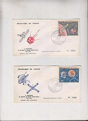 CONGO 1967,SPACE FDC covers