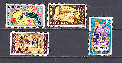 Nigeria postage stamps - 4 x Used 1965 Commems.  collection odds