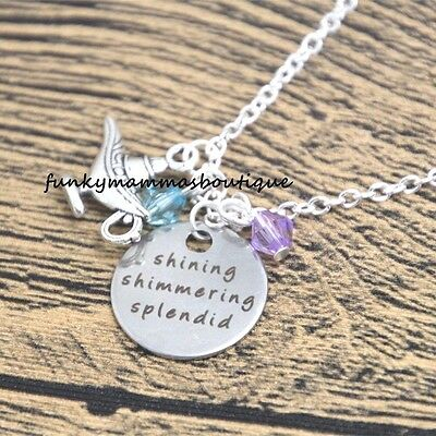 Aladdin Themed Shining Shimmering Splendid Charms Necklace Magic Lamp