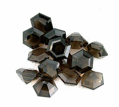 ONE 5mm Custom Cut Hexagon Smoky Quartz Cab Cabochon Gem Stone Gemstone ES7773