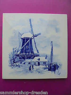 21069-4 Kachel Windmühle SOMAG Fliese sehr gut tile wind mill very good Teichert