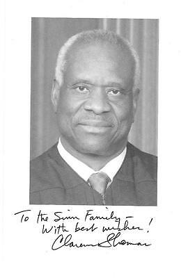 Supreme Court Justice Clarence Thomas Signed 6X9 B&w Photo Autographed