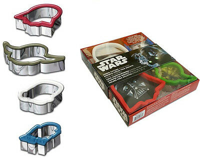 Star Wars - Character Shaped Metal Cookie Cutter Set - New & Official Lucasfilm