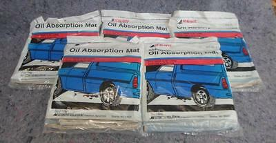"""5 Vintage SEAL-RITE All-Purpose OIL ABSORPTION MATS AM-30 21 1/2"""" x 30"""" New $49!"""