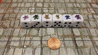 Grateful Dead Dancing Bears Dice Set D6