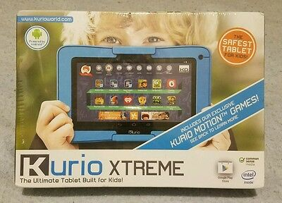 Kurio Xtreme Tablet (Blue) 96405 with Protective Bumber *New, Factory Sealed