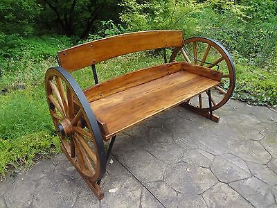 Wagon Wheel Bench, Very Rustic and Solid.