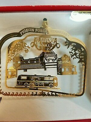 Alabama Grill Pigeon Forge Tennesee Brass Christmas Ornament