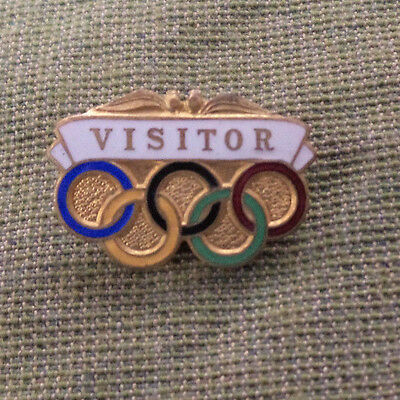 #d255.  1956 Melbourne Olympic Games Visitor  Badge