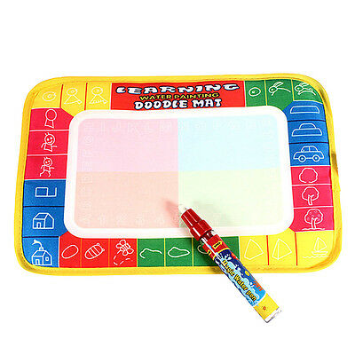 1PC Kids Toy Magic Water Drawing Writing Painting Mat Board Doodle with Pen